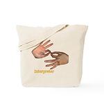 Interpreter - Male Hands Tote Bag