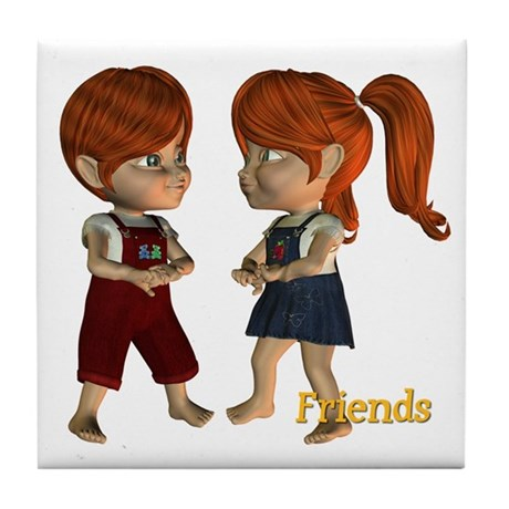 Tile Coaster - Friends - Kit & Kevin