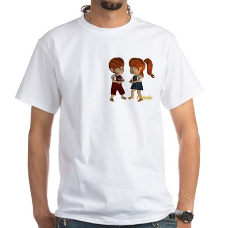 Friends - Kit & Kevin White T-Shirt