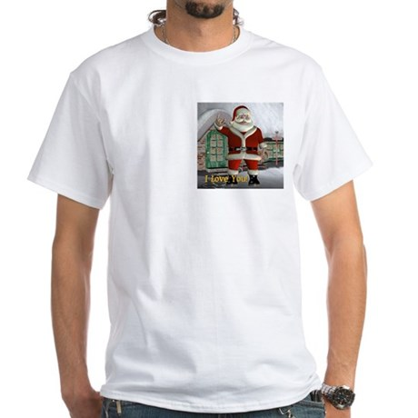 White T-Shirt - Santa I Love You