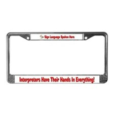 "License Plate Frame-Female Hands ""In Everything"""