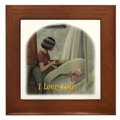 Mom & Baby 01 - Framed Tile