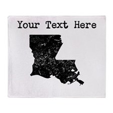Louisiana Silhouette (Custom) Throw Blanket