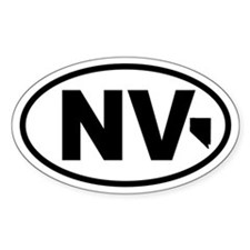 Nevada Map Oval Decal