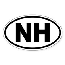 Basic New Hampshire Oval Decal