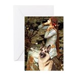 Ophelia / G-Shep Greeting Cards (Pk of 20)