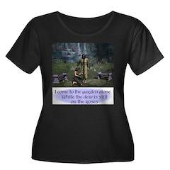 In the Garden - Scoop Neck Dark T-Shirt
