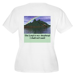 The Lord is My Sh Women's Plus Size V-Neck T-Shirt