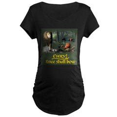 Every Knee Shall Bow - Maternity Dark T-Shirt
