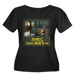 EveryKneeWomen's Plus Size Scoop Neck Dark T-Shirt