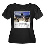 Coliseum Women's Plus Size Scoop Neck Dark T-Shirt
