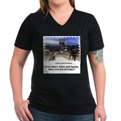 The Coliseum - Women's V-Neck Dark T-Shirt