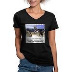 The Coliseum - Women's V-Neck Dark T-Shirt