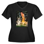 Fairies / G-Shep Women's Plus Size V-Neck Dark T-S
