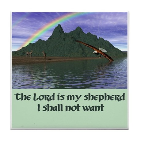 Lord is My Shepherd - Tile Coaster