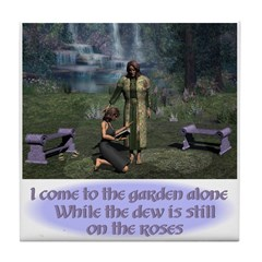 In the Garden - Tile Coaster