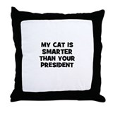 my cat is smarter than your p Throw Pillow