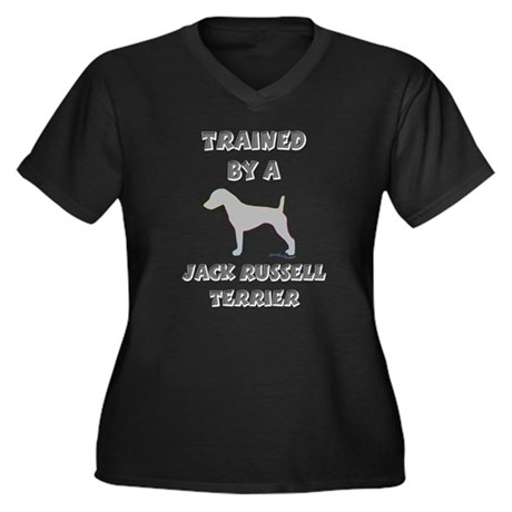 JRT Slvr Women's Plus Size V-Neck Dark T-Shirt