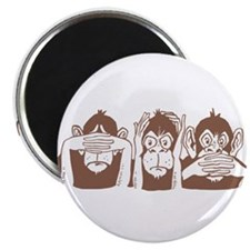 No Evil Monkeys Magnet