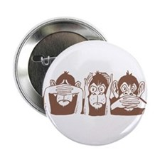 No Evil Monkeys Button