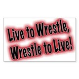 Wrestling Rectangle Decal