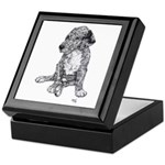 Merle Great Dane Puppy in dots Keepsake Box