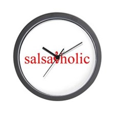 Salsaholic Wall Clock