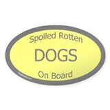 Spoiled Dogs On Board Decal