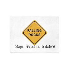 Falling Doesn't Rock, I Tried It 5'x7'Area Rug