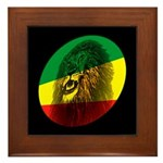Reggae Lion Framed Tile