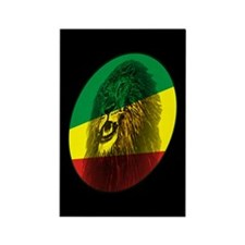 Reggae Lion Rectangle Magnet