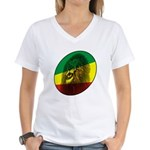 Reggae Lion Women's V-Neck T-Shirt