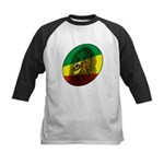 Reggae Lion Kids Baseball Jersey