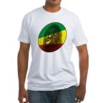 Reggae Lion Fitted T-Shirt