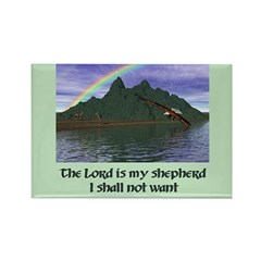 The Lord is My Shepherd - Rectangle Magnet
