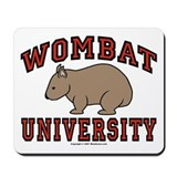 Wombat University Mousepad