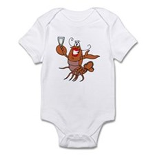 Girl Toasting Wine Lobster Infant Bodysuit