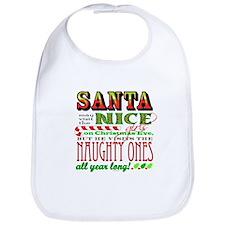Santa and the Nice Girls Bib