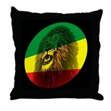 Jah Lion Throw Pillow