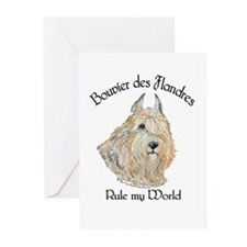 Bouvier des Flandres Wheaten Greeting Cards (Pk of