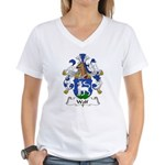 Wolf Family Crest Women's V-Neck T-Shirt