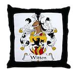 Witten Family Crest Throw Pillow