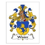 Winter Family Crest  Small Poster
