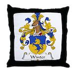 Winter Family Crest  Throw Pillow