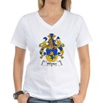 Winter Family Crest  Women's V-Neck T-Shirt