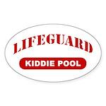 Lifeguard Kiddie Pool Oval Sticker
