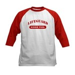 Lifeguard Kiddie Pool Kids Baseball Jersey