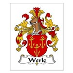 Werle Family Crest Small Poster