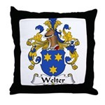 Welter Family Crest Throw Pillow