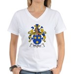 Welter Family Crest Women's V-Neck T-Shirt